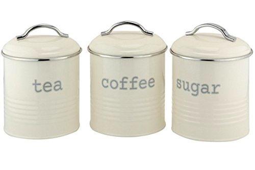 Tea Coffee Sugar Canisters Internet Eyes