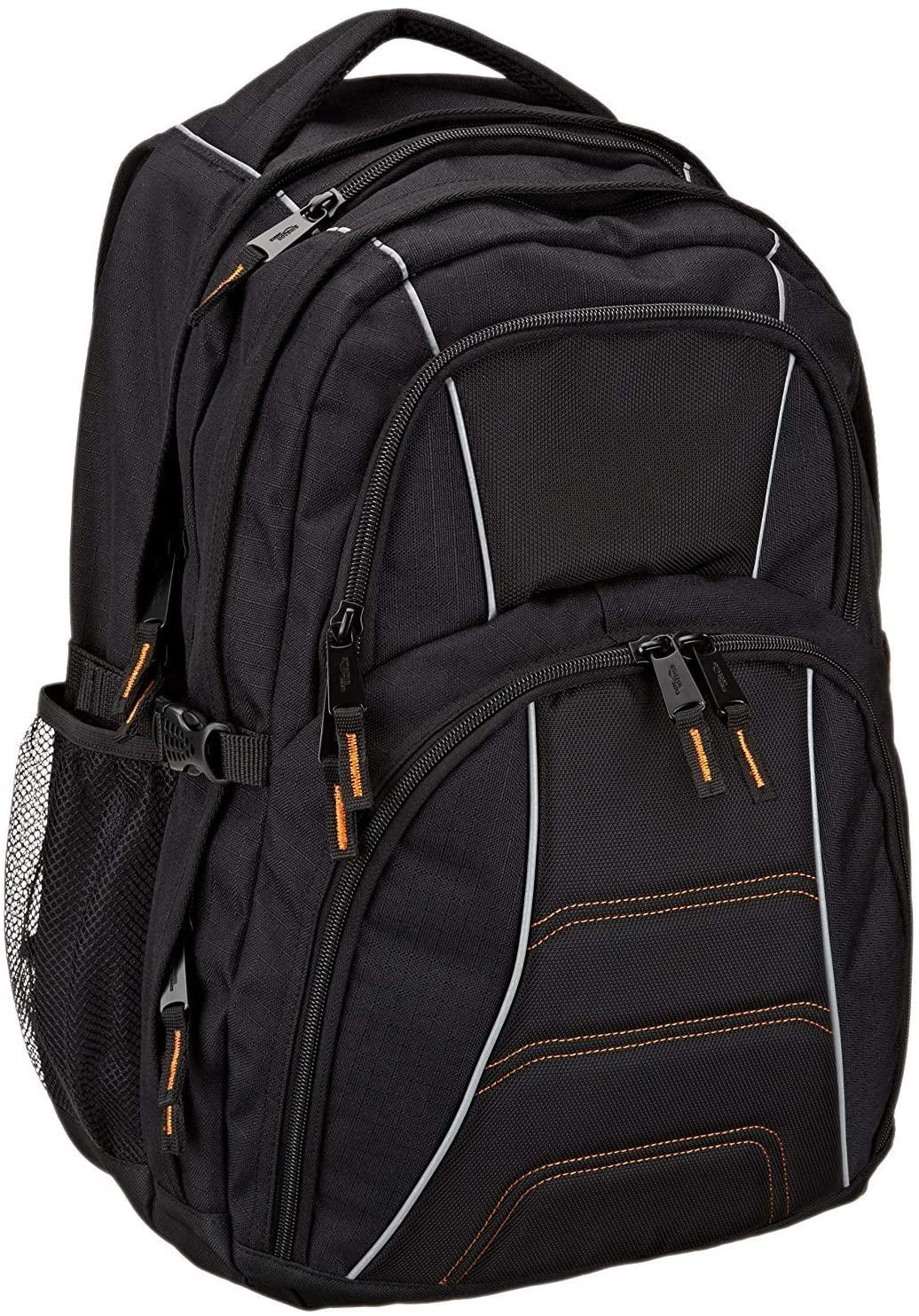 AmazonBasics Laptop Computer Backpack - Fits most 17 Inch/43 cm Laptops - Black