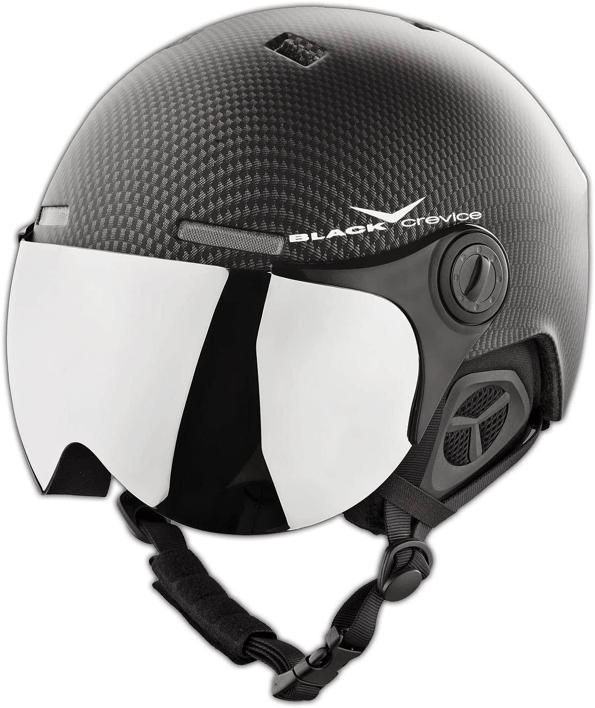 Black Crevice Ski Helmet