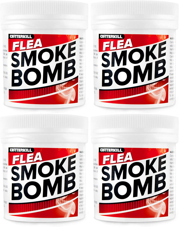 CritterKill Professional Strength 15g Flea Smoke Bomb Fogger Fumigator Smoke | Kills Fleas (4)