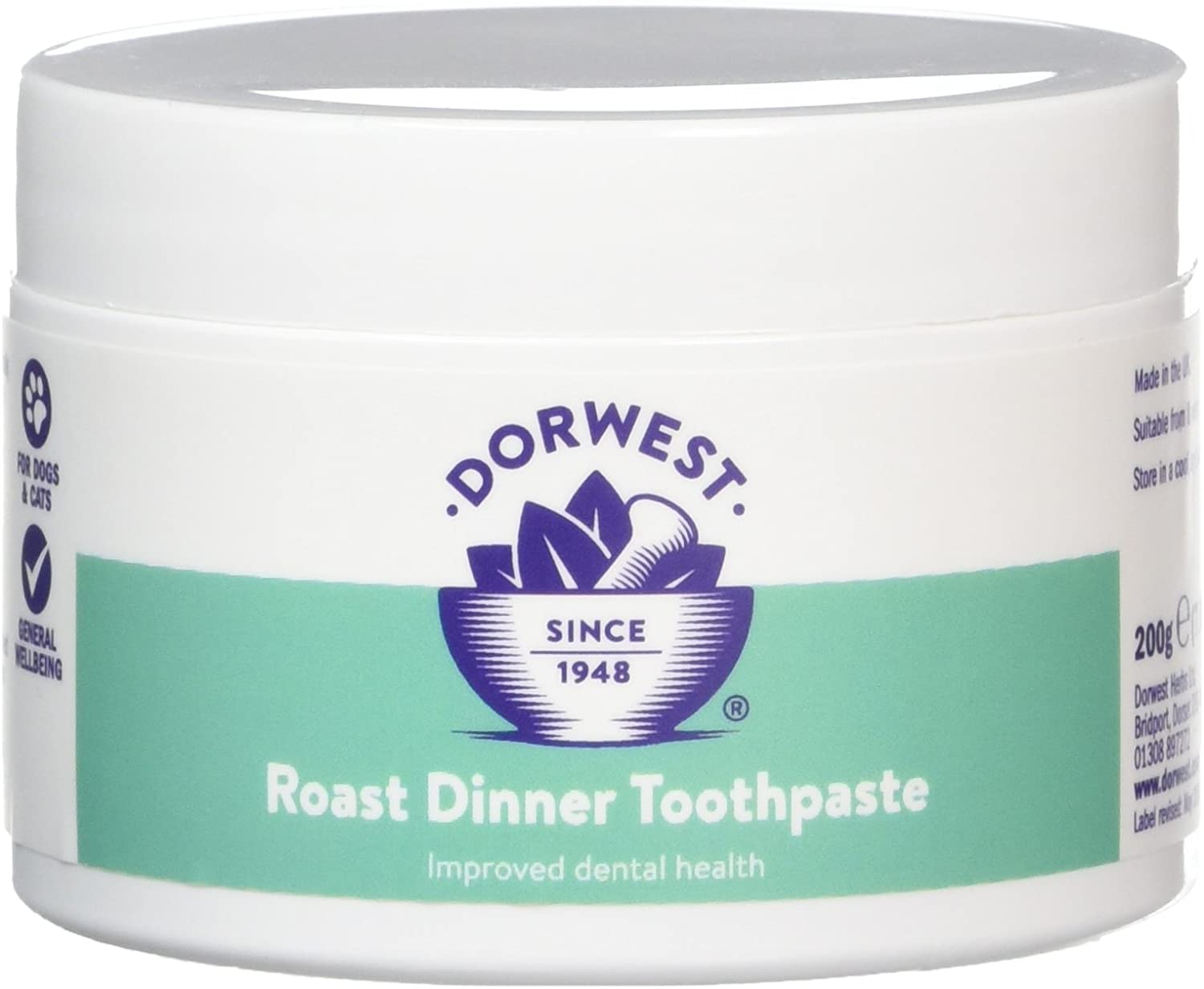 DORWEST HERBS Roast Dinner Toothpaste for Dogs 200g