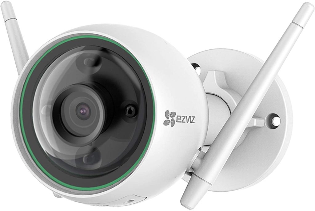 EZVIZ Smart Security Camera Outdoor 1080P AI-Powered Person Detection Colour Night Vision H.265, IP67 Waterproof, Customizable Detection Zones, 2.4GHz WiFi Supports MicroSD Card up to 256GB(C3N)