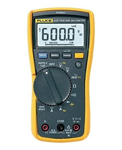 Fluke 117 Digital Multimeter LCD, 6000 counts CAT III 600 V