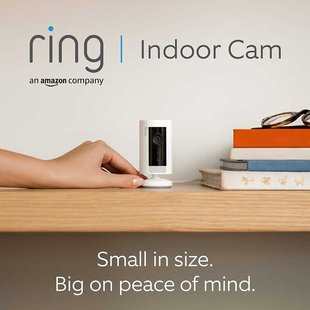 Introducing Ring Indoor Cam | Compact Plug-In HD security camera with Two-Way Talk, Works with Alexa | With 30-day free trial of Ring Protect Plan | White