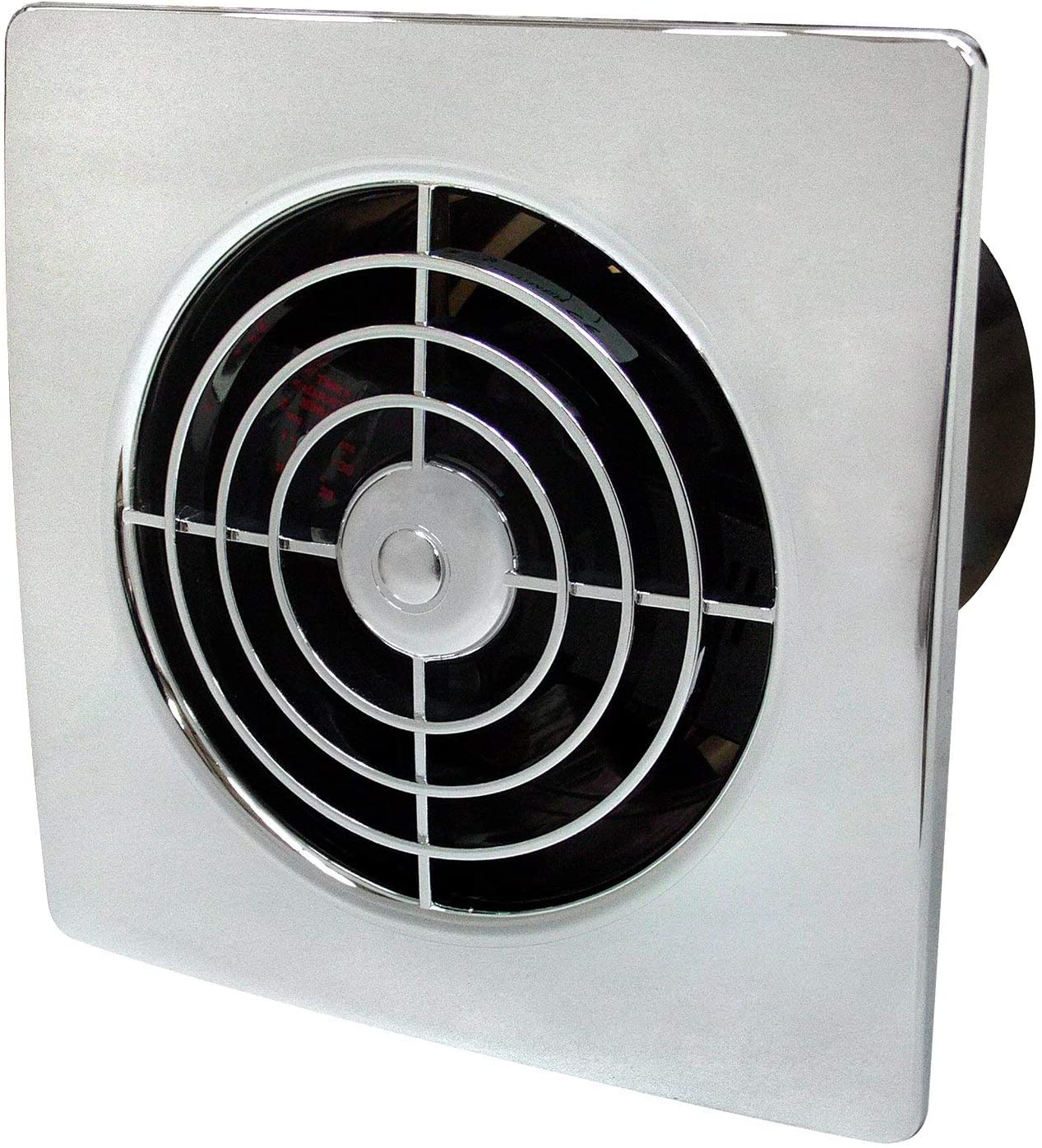 Manrose 100mm Low Profile Extractor Fan/Timer - Chrome
