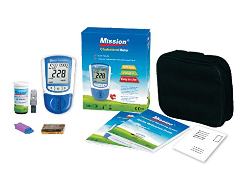 Mission 3 in 1 Cholesterol Meter + lipid panel test