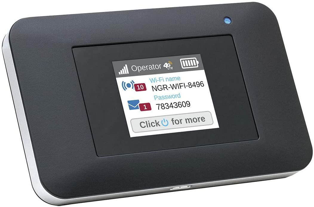 NETGEAR AirCard Mobile Hotspot 4G LTE Router(AC797), Mifi, Unlocked Portable Wifi, Connect up to 15 Devices with Download Speeds up to 400 Mbps