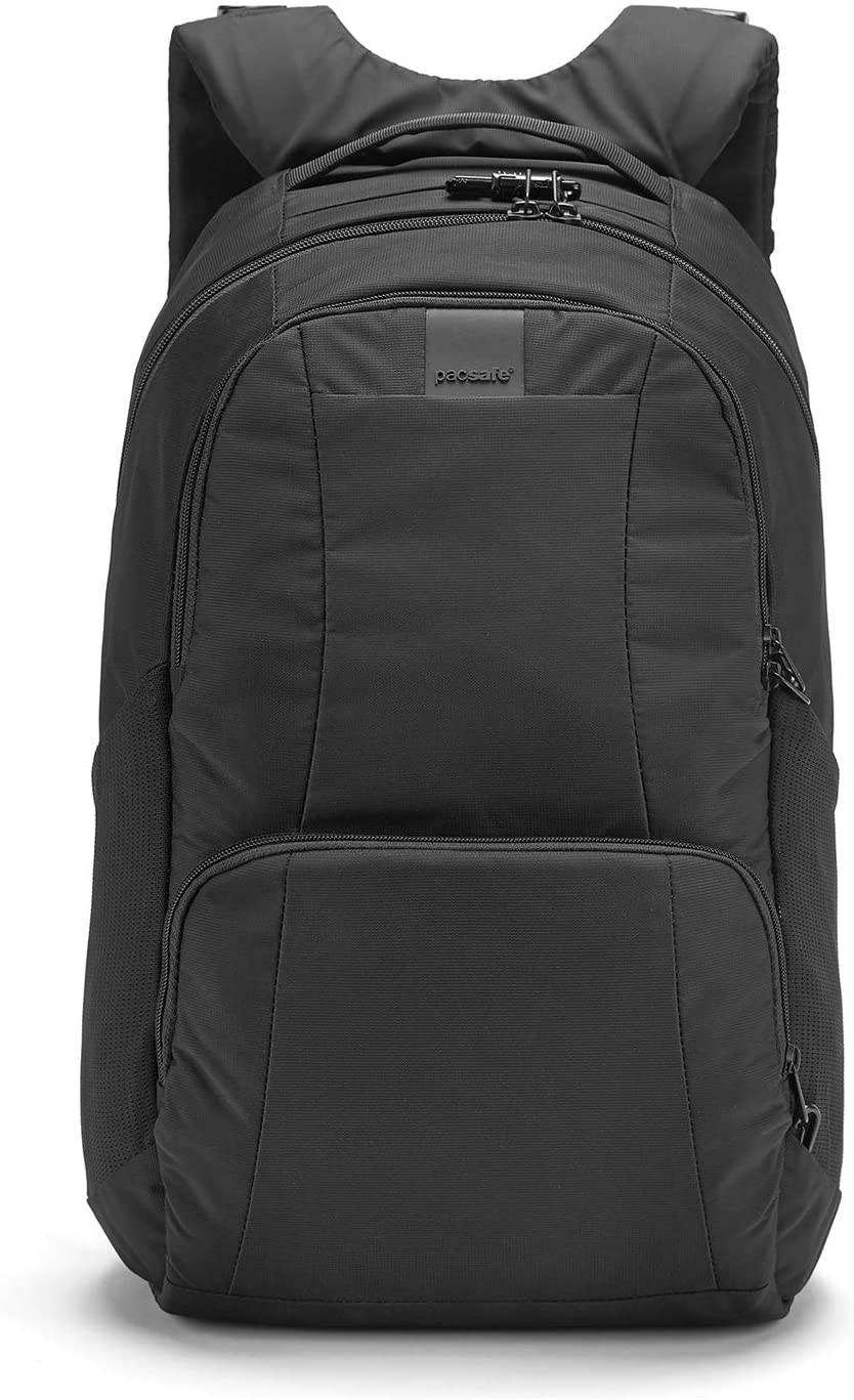 PacSafe Metrosafe LS450 Anti-Theft 25L Backpack Casual Daypack, 48 cm, 25 liters, Black (Black 100)