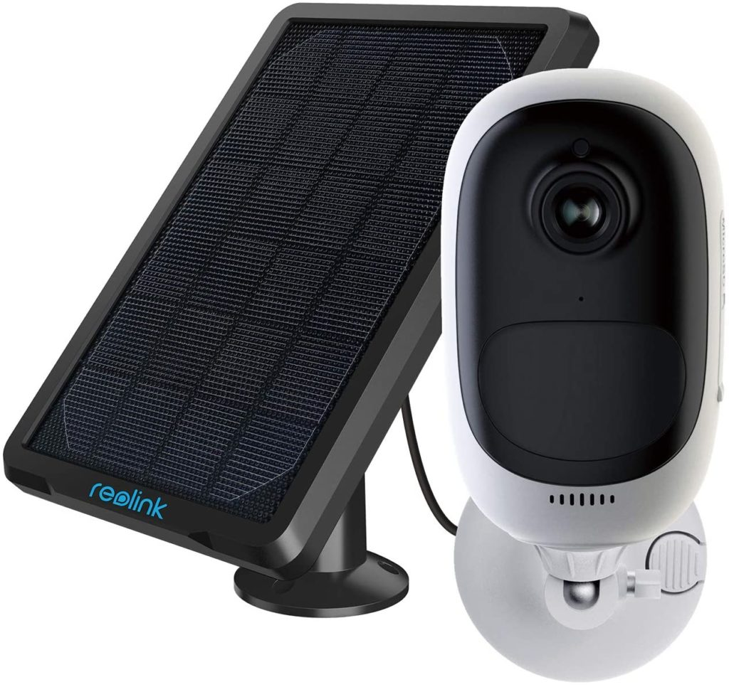 Reolink Solar Outdoor Security Camera Rechargeable Battery 1080p Wireless WiFi IP Camera 2-Way Audio Siren Alert Night Vision PIR Motion Detection Surveillance Camera, Argus Pro with Solar Panel