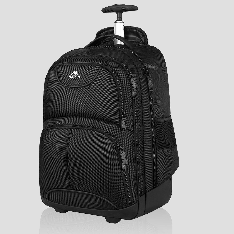 Rolling Backpack, Matein Waterproof College Wheeled Travel Backpack