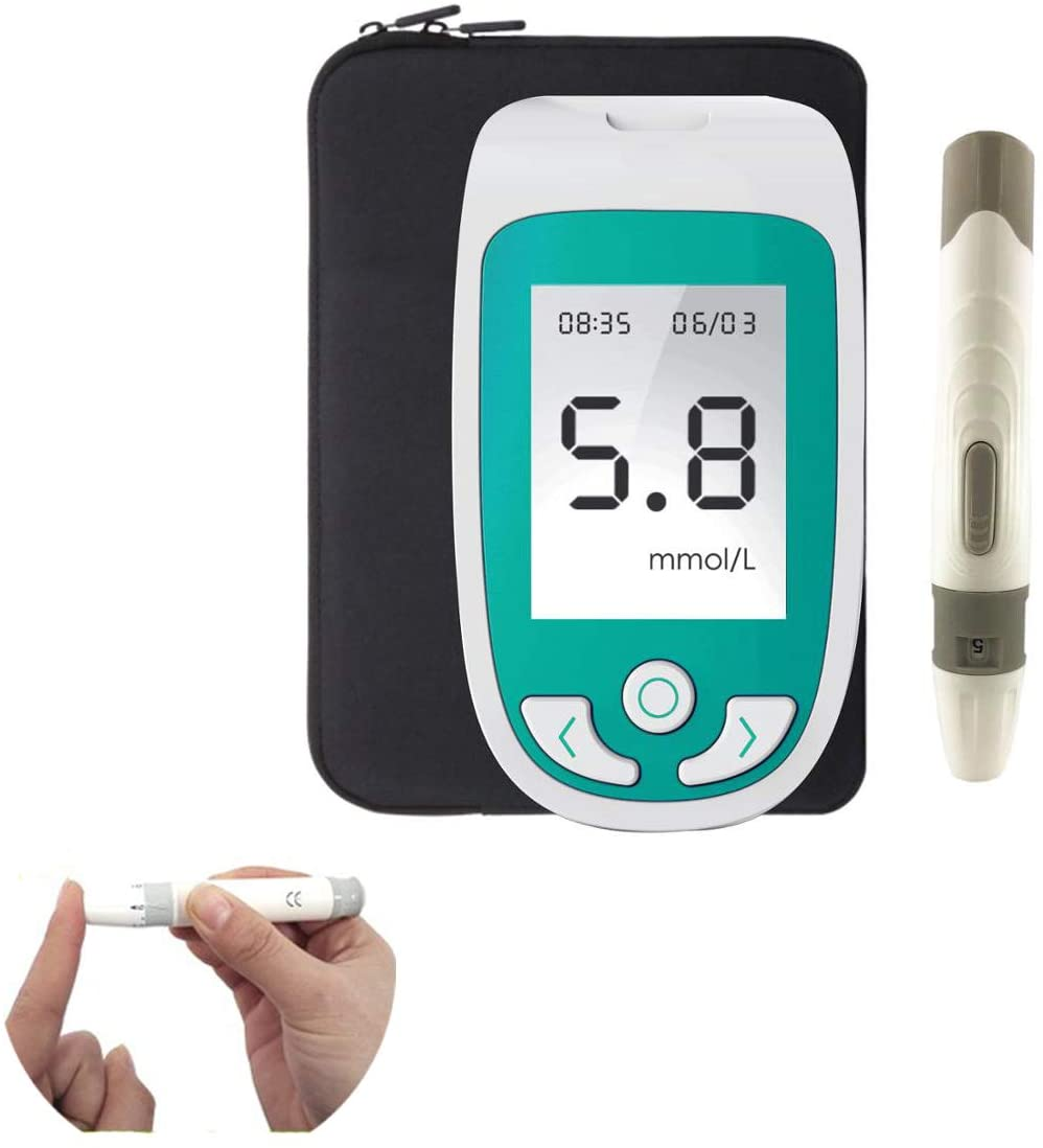 SUN RDPP 3 in 1 Multi-Function Blood Sugar,Uric Acid,Cholesterol Monitor,with Test Strip Analyze