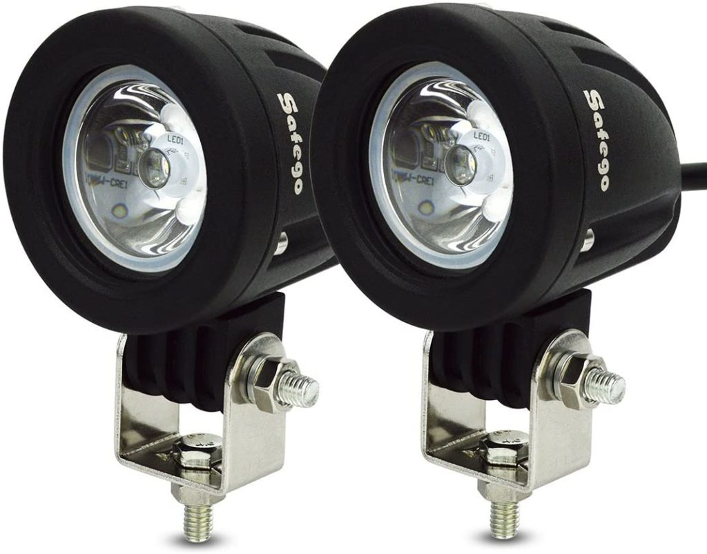 Safego 12V 24V 10W Cree LED Spot Work Light Lamp for Truck Off Road Lights 4X4 ATV Tractor 30 Degree Round