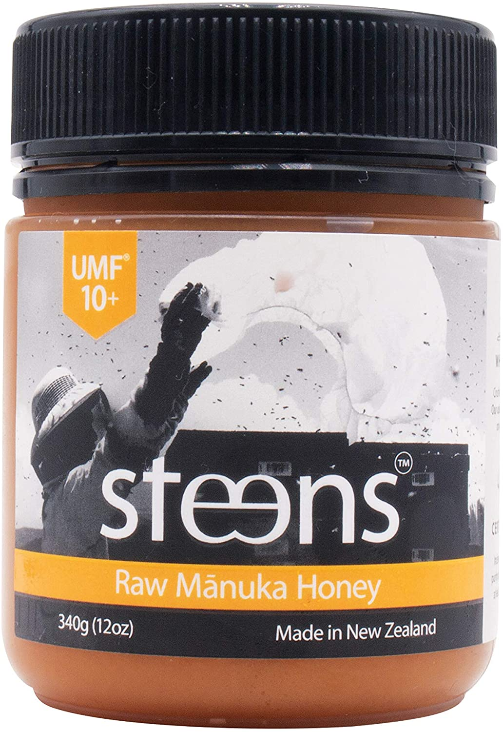 Steens UMF 10 (MGO 263) Raw Unpasteurized NZ Manuka Honey 340 Gram - with Natural Enzymes & Beebread