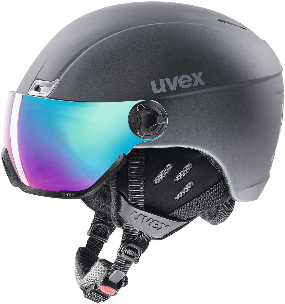 Uvex helmet 400, visor style ski helmet, Unisex