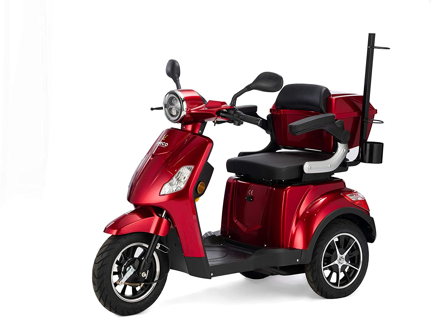 VELECO 3 Wheeled Electric Mobility Scooter 800W Draco (Red)