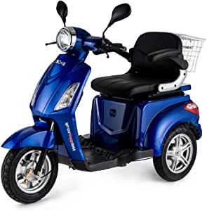 VELECO 3 Wheeled Electric Mobility Scooter 900W ZT15 Blue