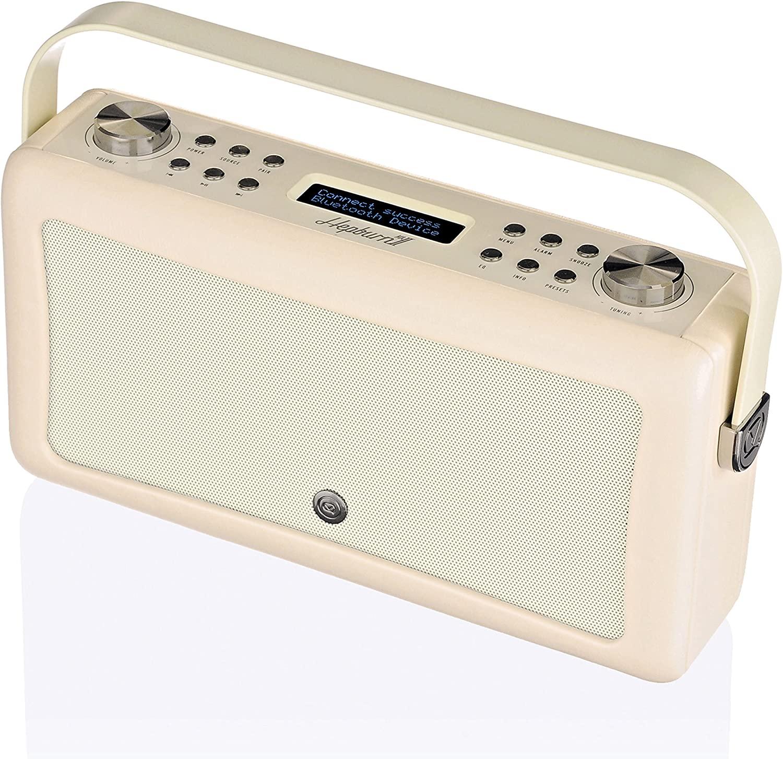 VQ Hepburn Mk II DAB & DAB+ Digital Radio with FM, Bluetooth & Alarm Clock – Cream