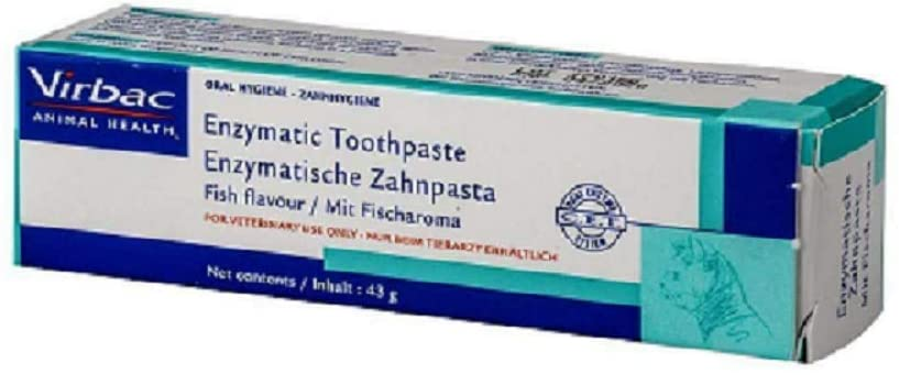 Virbac Enzymatic Toothpaste Fish Flavour 43g Roll over image to zoom in Virbac Enzymatic Toothpaste Fish Flavour 43g
