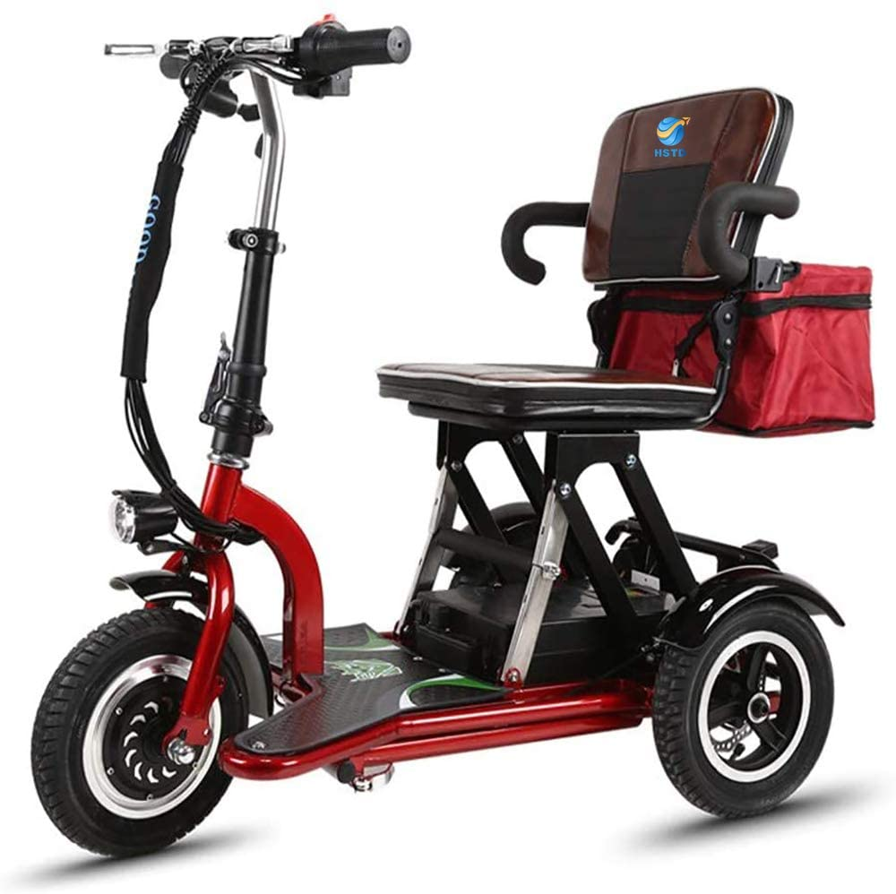 XCBY Mobility Scooter, 3 Wheeled Folding Electric Scooter