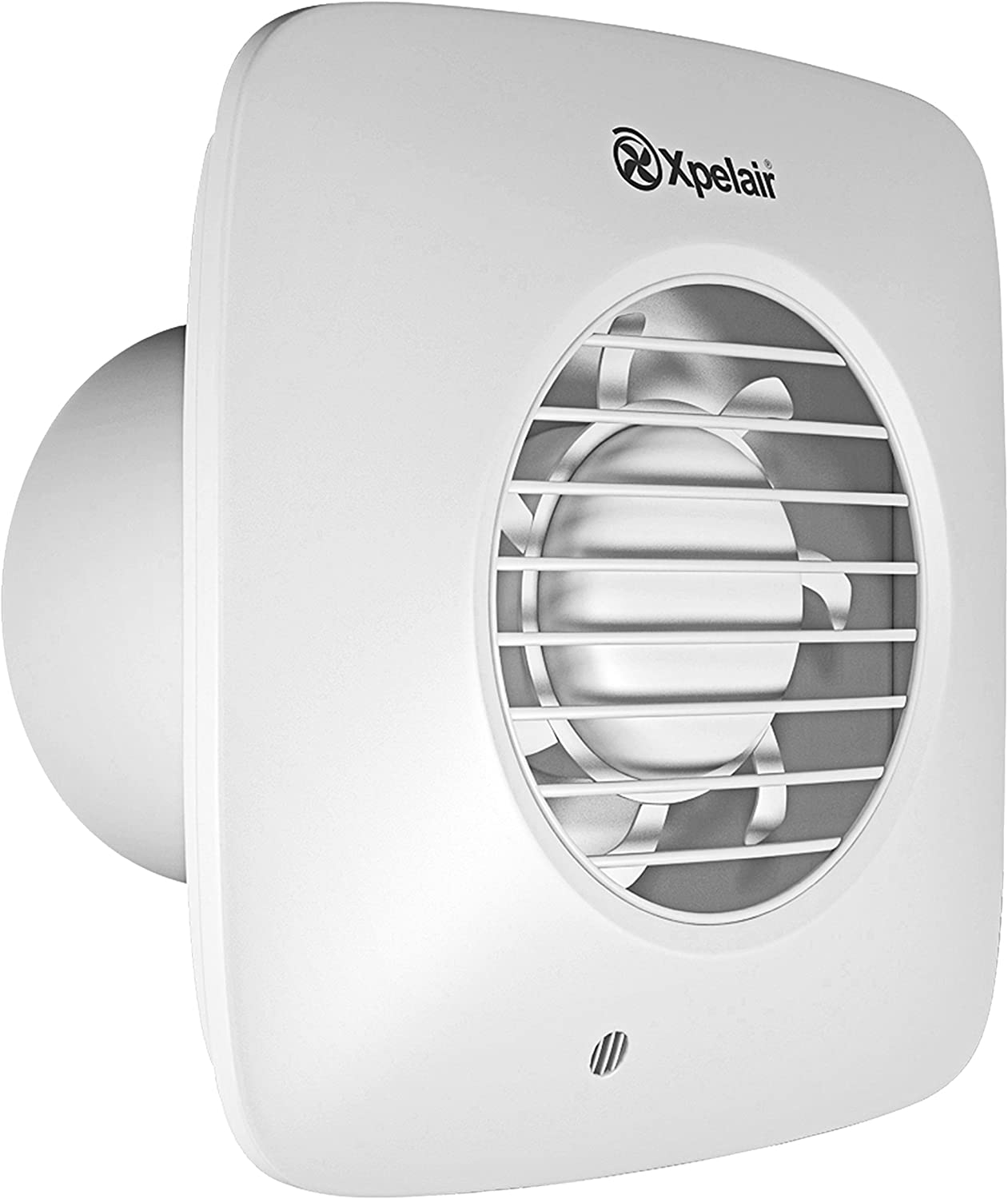 Xpelair DX100BTS 4 inch (100mm) Simply Silent DX100B Bathroom Fan-Timer Square, Cool White
