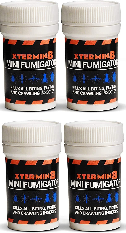 Xtermin8ProB 4 x Permethrin Smoke Generators Cat dog Flea Bomb indoor house home fumigation carpet fleas killer