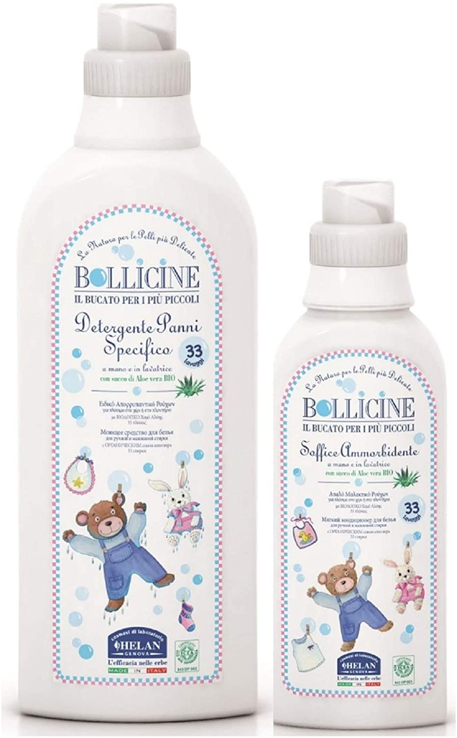 Bollicine Eco Organic Baby Clothes Laundry Liquid Detergent