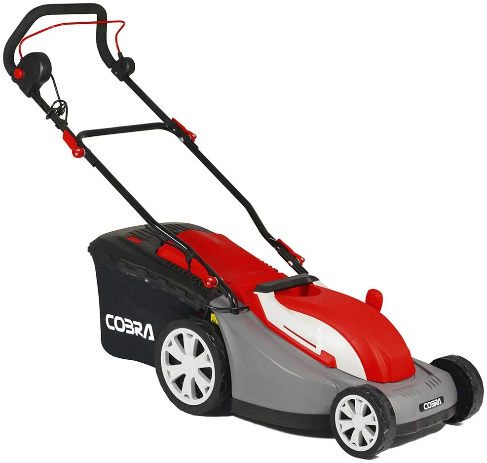 Cobra GTRM34 34cm (13in) Electric Lawnmower with Rear Roller - Powerful 1300w motor