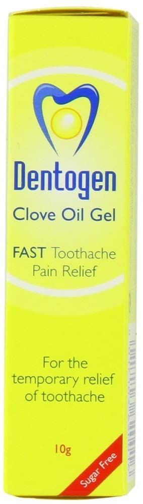 Dentogen Fast Toothache Pain Relief - Sugar-Free Clove Oil Gel 10g