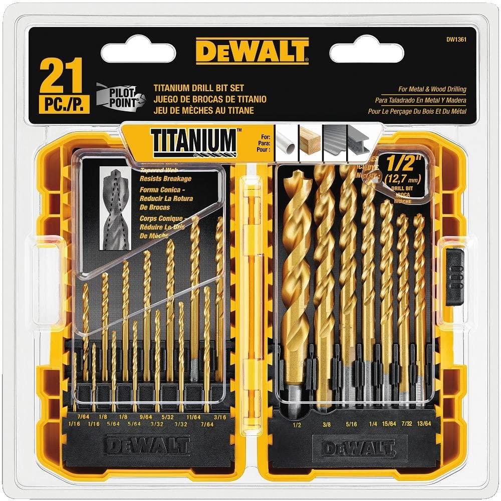 Dewalt Titanium Drill Bit Set