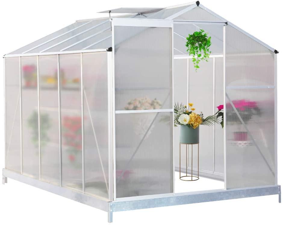FIDOOVIVIA Polycarbonate Garden Greenhouse