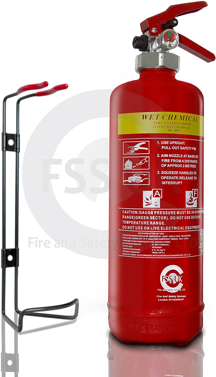 FireShield Wet Chemical F Class Cooking Fire Extinguisher