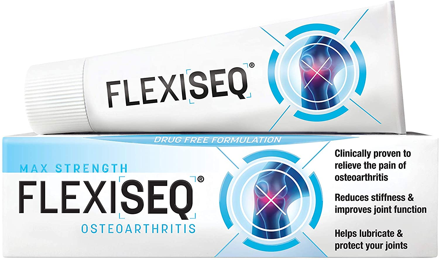 Flexiseq Osteoarthritis Gel Max Strength 30g, Osteoarthritis Joint Pain Relief Gel, Drug-Free Treatment for Joints Including Knees, Hands, Feet & Hip