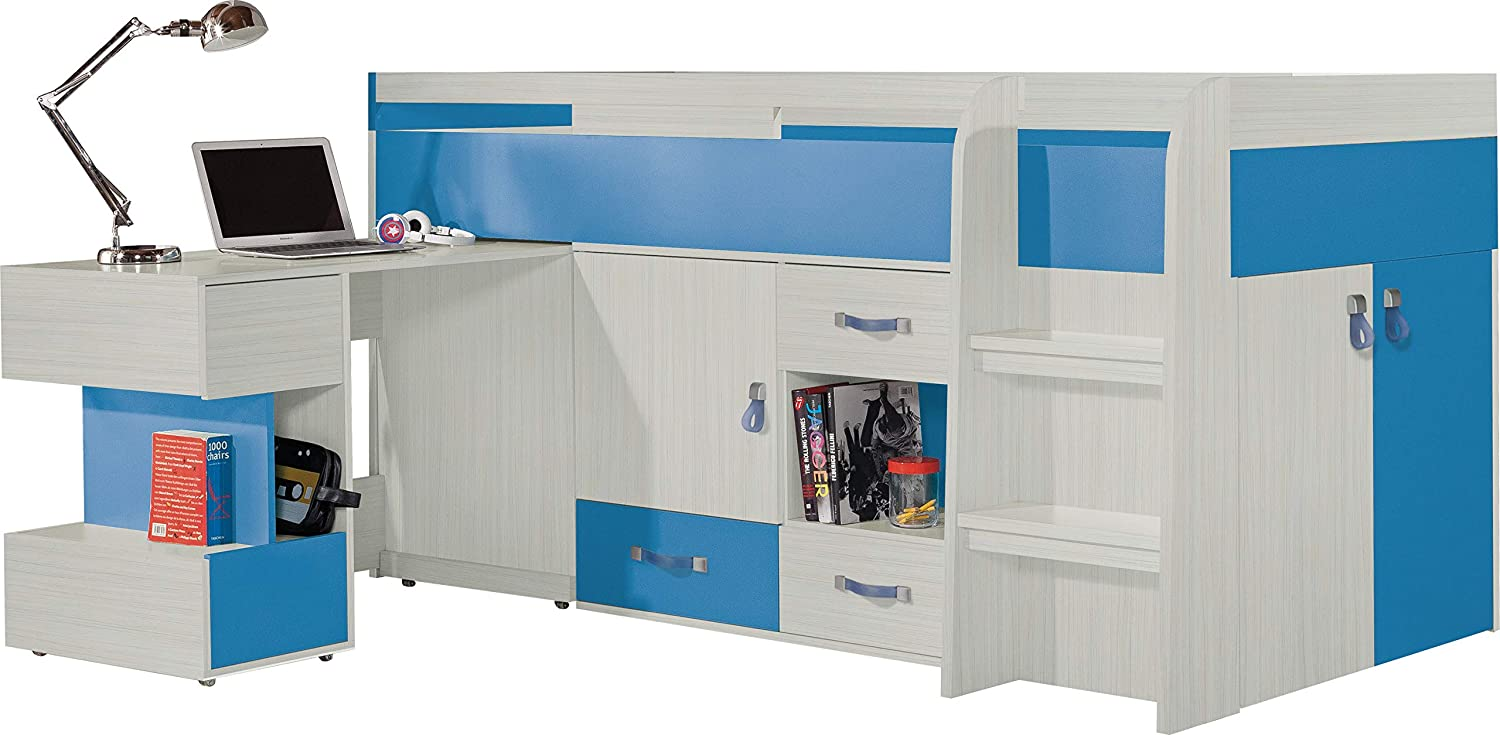 High Sleeper Bed Composition With Desk KOMI System