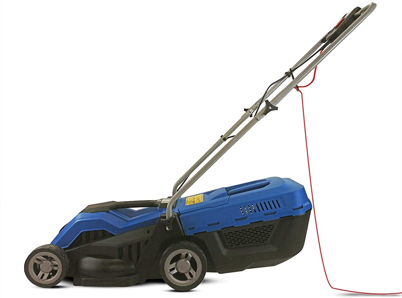 Hyundai Electric, Rear Roller, Mulching, Rotary Lawnmower, 1200W 33cm Cut 30L Bag 10M Cable HYM3300E