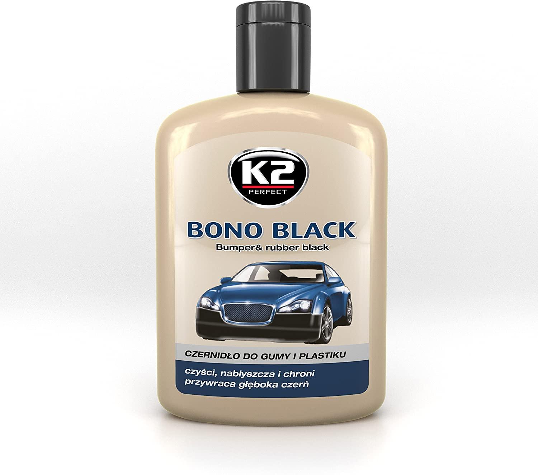 K2 BONO BLACK Bumper Car Trim Plastic Rubber Restorer