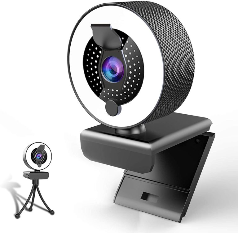 KFF 2k Webcam with Microphone and Ring light