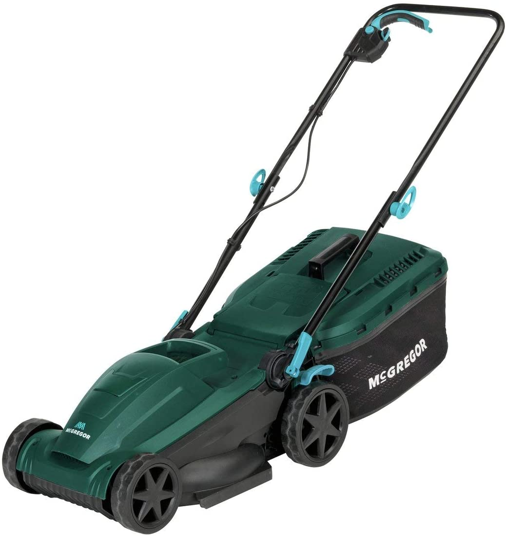 McGregor 34cm Corded Rotary Lawnmower - 1400W