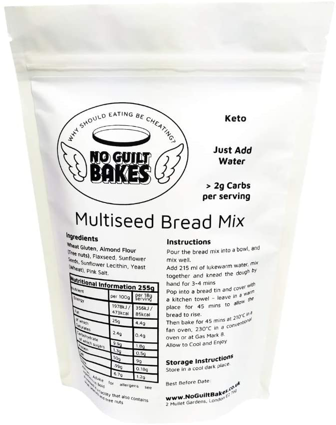 No Guilt Bakes SeededKeto Bread Mix