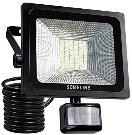 Outdoor Led PIR Floodlight with Motion Sensor 30W Spotlight Security Lights for Garden External Outside Lighting SOMELINE