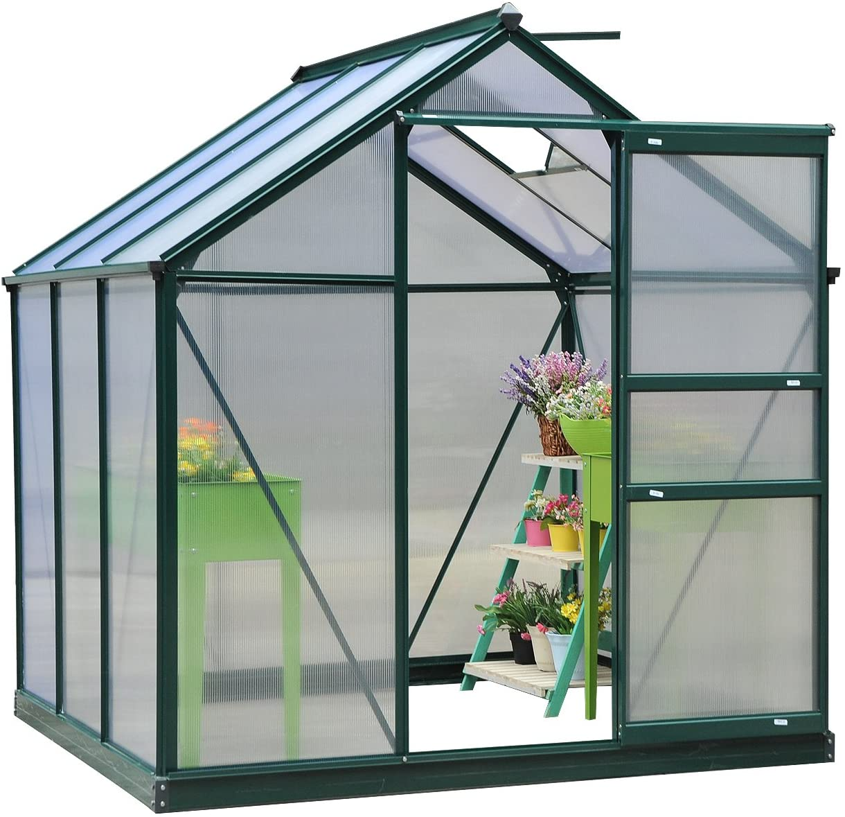 Outsunny Clear Polycarbonate Greenhouse