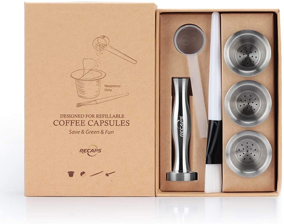 RECAPS Reusable Nespresso Coffee Pods