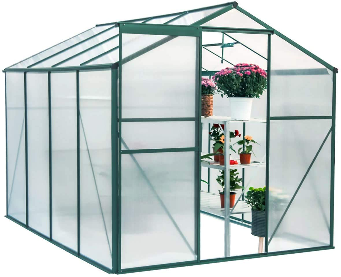 SUNY ROAD Polycarbonate Outdoor Greenhouse