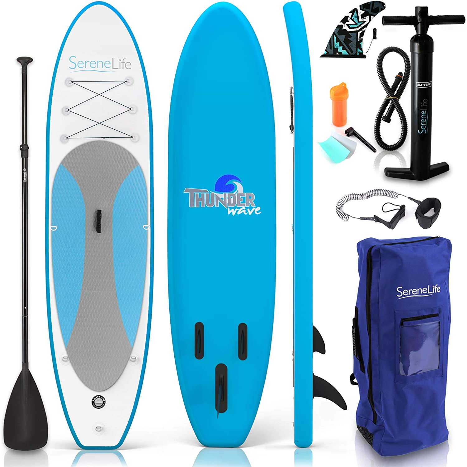 SereneLife 10ft Inflatable Stand Up Paddle Board