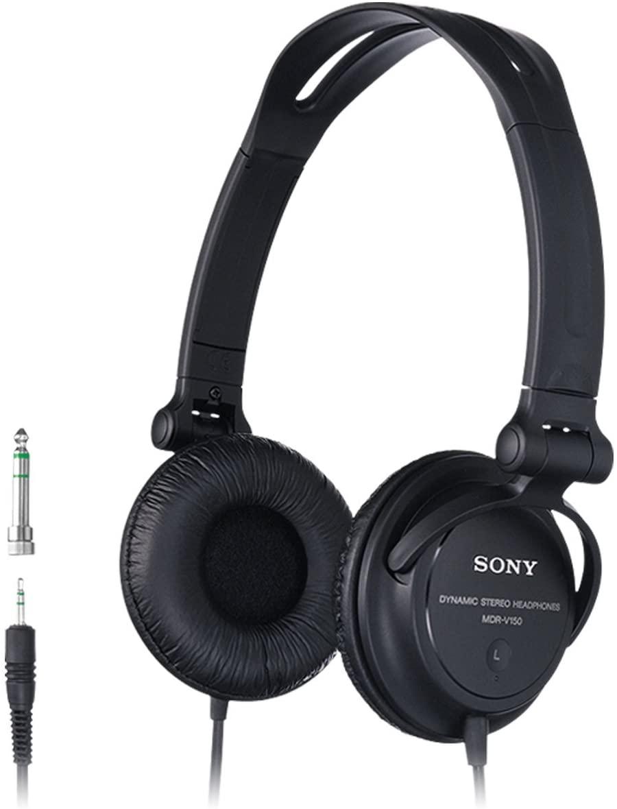Sony MDR-V150 Headphones with Reversible Housing for DJ Monitoring - Black