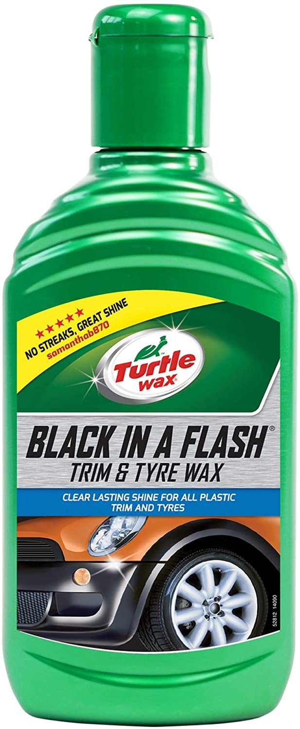 Turtle Wax 52812 Black In a Flash Restorer for Exterior Plastics andTyre