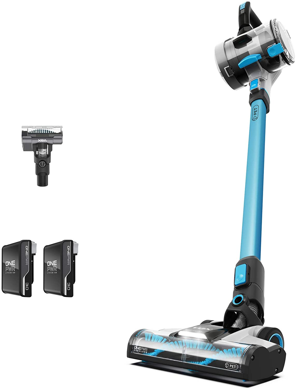 Vax ONEPWR Blade 3 Pet Dual Battery Cordless Vacuum Cleaner with Motorised Pet Tool – CLSV-B3DP