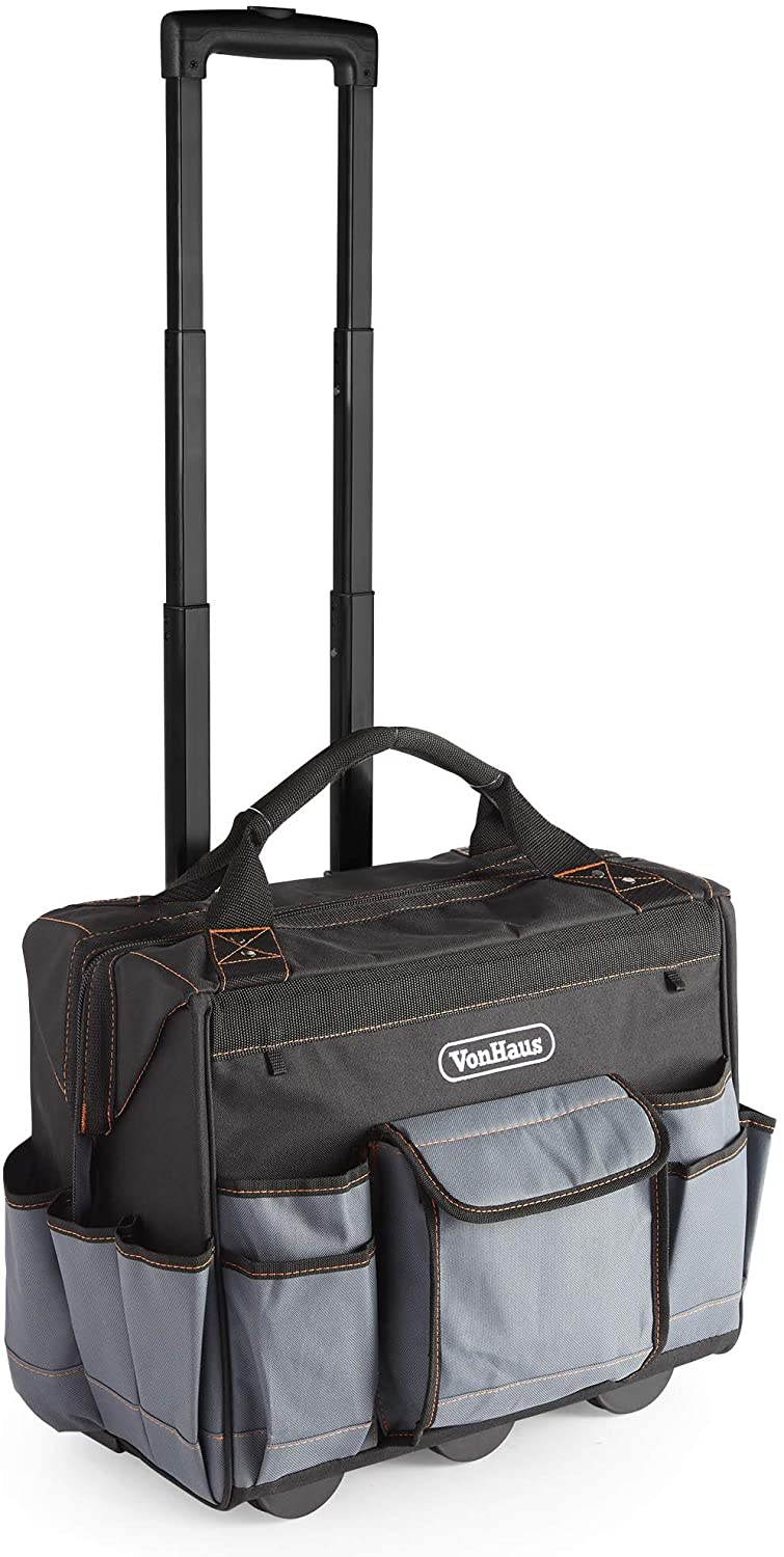 VonHaus Rolling Tool Bag with Wheels