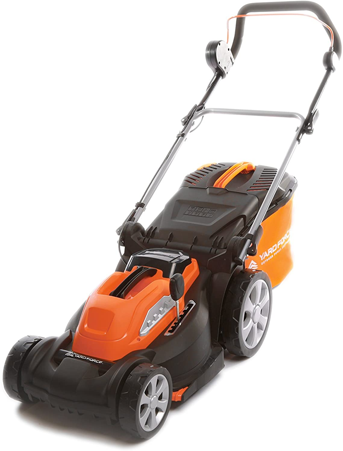 Yard Force 40V 37cm Cordless Lawnmower with 2.5AH Lithium-ion Battery and Quick Charger (with rear roller) LM G37/25