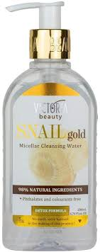 Victoria Beauty Snail Gold 97% natural Micellar Cleansing and Toning Water – the ideal makeup remover and facial cleanser, 200 ml