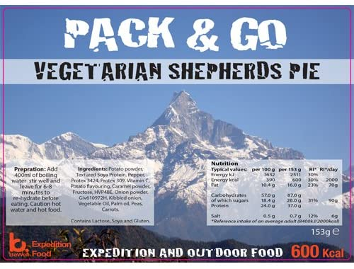 Bewell Expedition Pack & Go shepherds pie